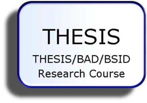 Masters Thesis and Doctoral Dissertation